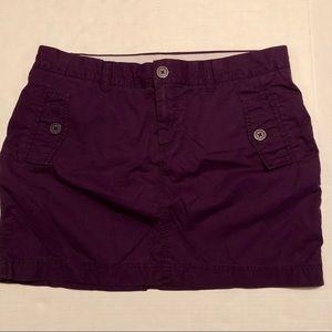 GAP Cargo Skirt Flap Pockets Deep Purple Size 12